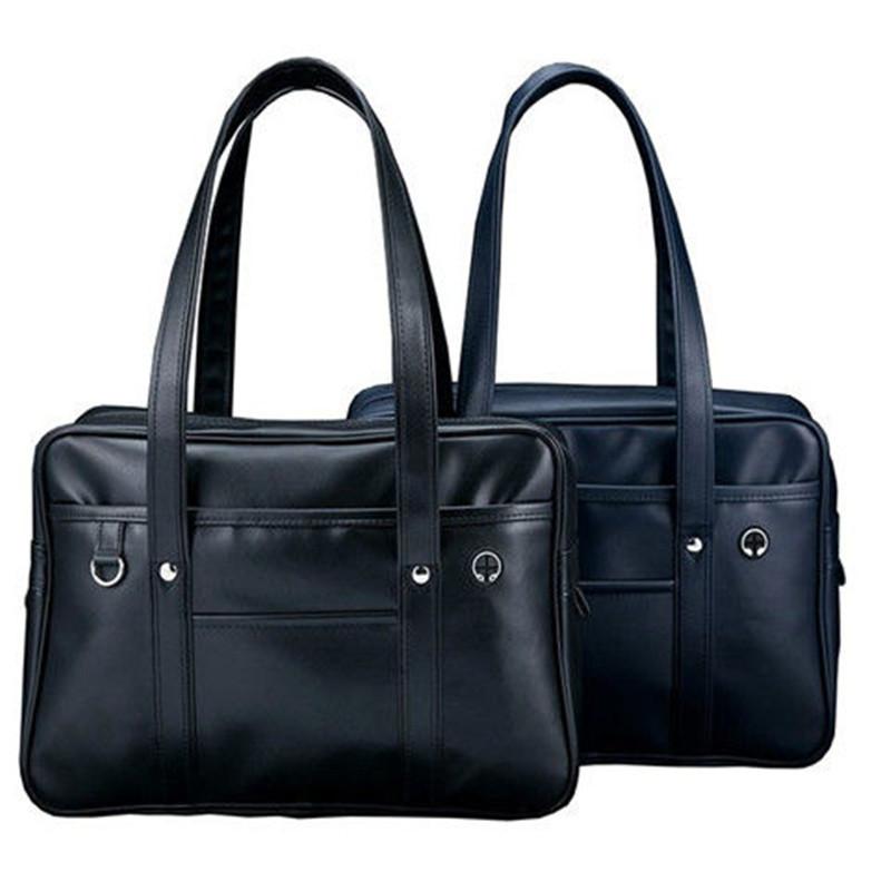 日本学生JK单肩手提书包 PU制服包  COS男女通勤 公文包 现货