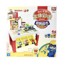 博娃橡皮泥模具工具套装组合儿童雪糕机超轻粘土玩具3d彩泥手工泥