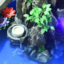 大型假山流水喷泉办公室盆景室内山水景观楼梯鱼池餐厅落地摆件
