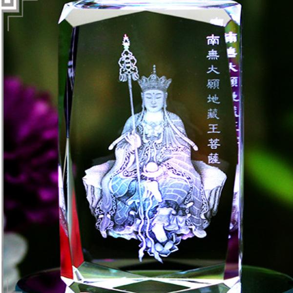全国包邮一件代发水晶内雕佛像摆件水晶阿弥陀佛西方三圣佛教用品