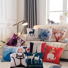 抱枕卡通沙發汽車腰靠墊磨毛印花贈品可愛兒童小禮品家具活動地攤