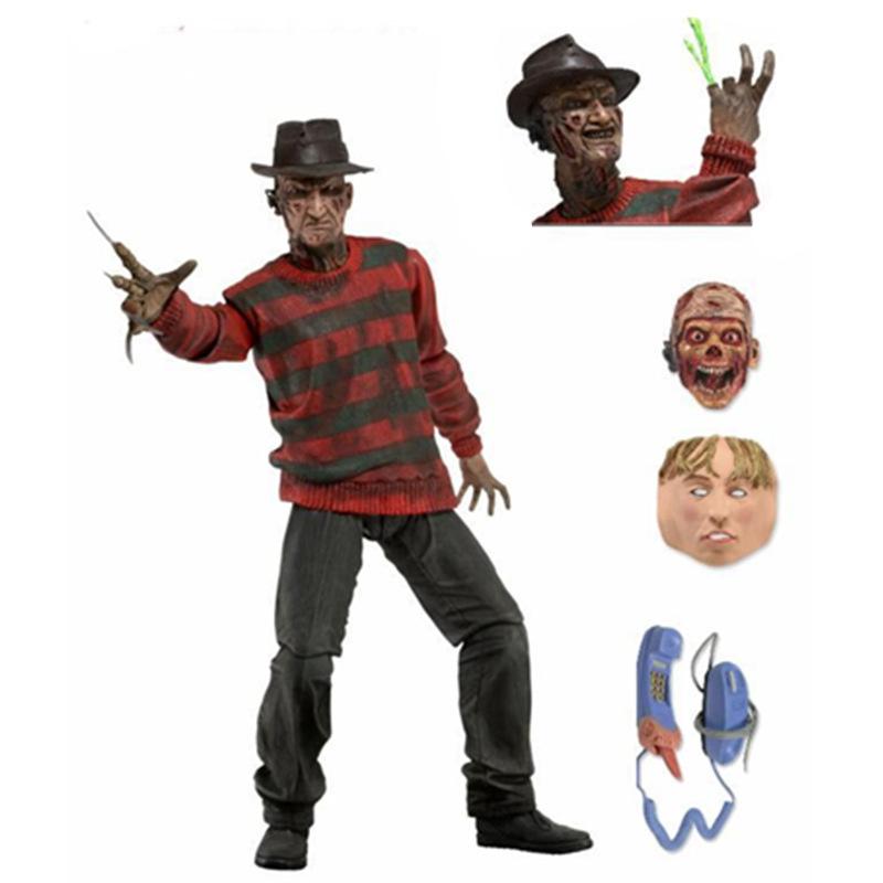 NECA 豪华电影版 猛鬼街 杀人狂 弗莱迪 超可动人偶手办模型盒装