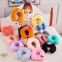 2019新品创意玩具记忆棉U型枕午睡枕头创意礼品卡通图案毛绒玩具