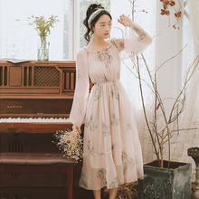 新款韩版仙女气质飘逸大摆碎花连衣长裙春新款