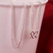 银项链S990足银项链纯银马鞭链男女扁平链宝宝儿童小孩女手工定制