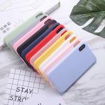 适用iphonex纯色xr手机壳xs苹果 max男女6s全包7plus防摔硅胶软壳