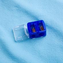 厂家直销塑料手动双孔眉笔卷笔刀 口红笔眼影笔刨