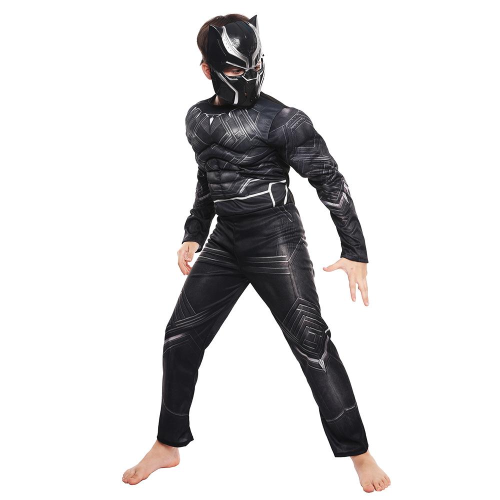 黑豹服装cosplay复仇者联盟 面具儿童舞会派对连体紧身衣节日装扮