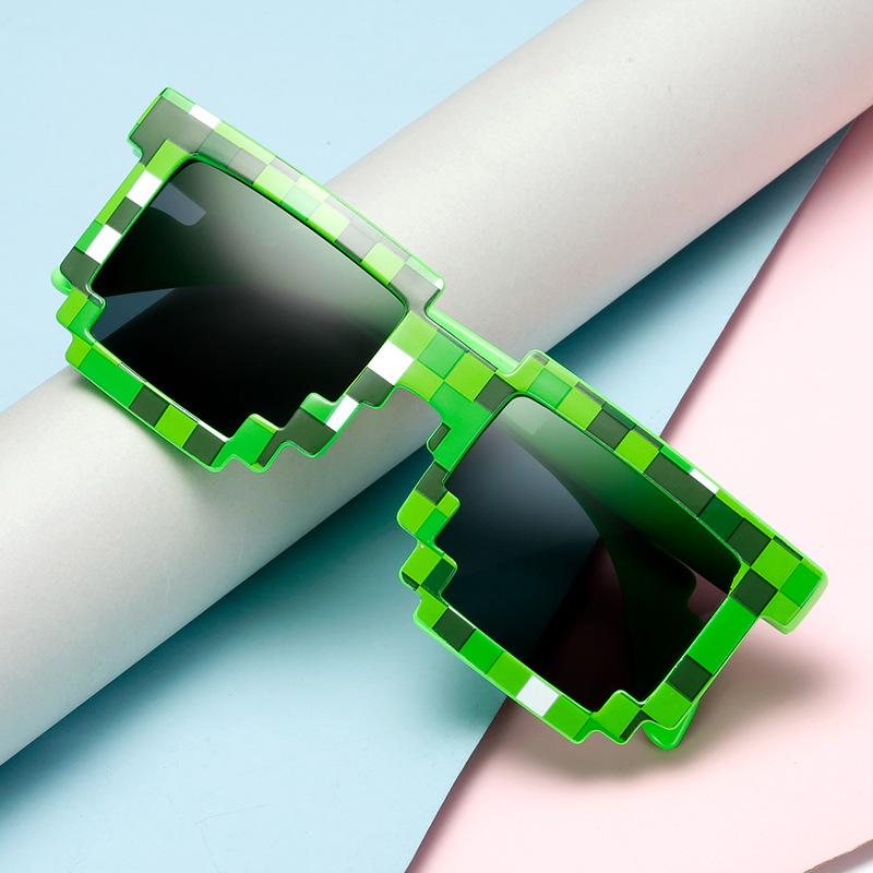 新款马赛克包花格子方框墨镜速卖通热销太阳镜男女通用复古眼镜潮