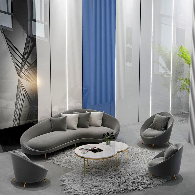 尺寸定制北欧小户型沙发公寓客厅民宿布艺沙发单双人沙发椅组合