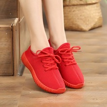 Women fall flat red shoes Ladies