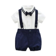 跨境Summer Boys Clothing Set Kids Baby Clothes Shirt+Shorts