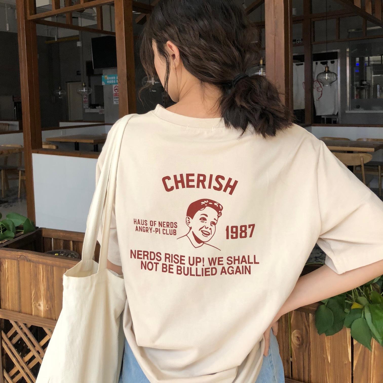 6535棉 衣服女夏2019夏季新款韩版学生短袖T恤女上衣半袖女装批发