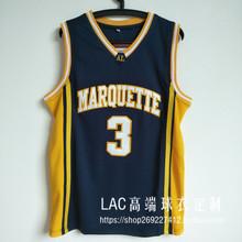 3号韦德马奎特大学球衣 Wade热火复古城市版刺绣篮球服套装男背心