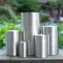 圆形纯锡茶叶罐密封储物罐锡罐商务送礼客厅摆件 茶叶礼盒定制