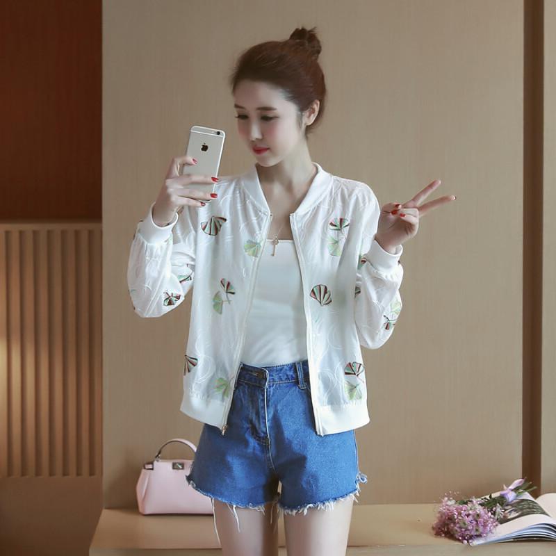 外套女2019春秋新款韩版学生宽松bf百搭短款防晒衣夏季薄款夹克衫