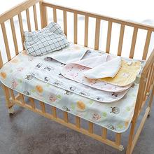 嬰兒隔尿墊6層紗布防水隔尿用品 防水透氣寶寶 紗布  隔尿墊
