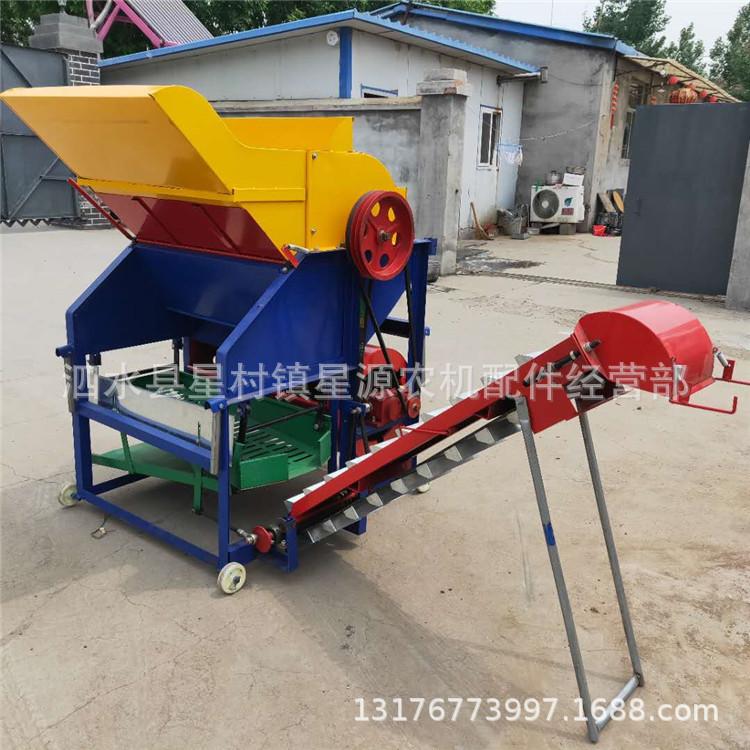 拖拉机带动花生摘果机 多功能干湿两用型 自动装袋花生采摘机