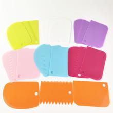 彩色刮板三件套 蛋糕奶油塑料刮刀厨房切面刀面团切割器 烘培工具