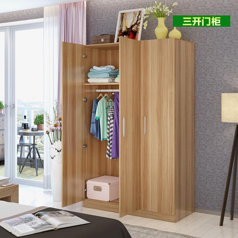 家用簡約陽臺柜木質衣柜4門整體櫥柜臥室多門組合簡易衣櫥可定制