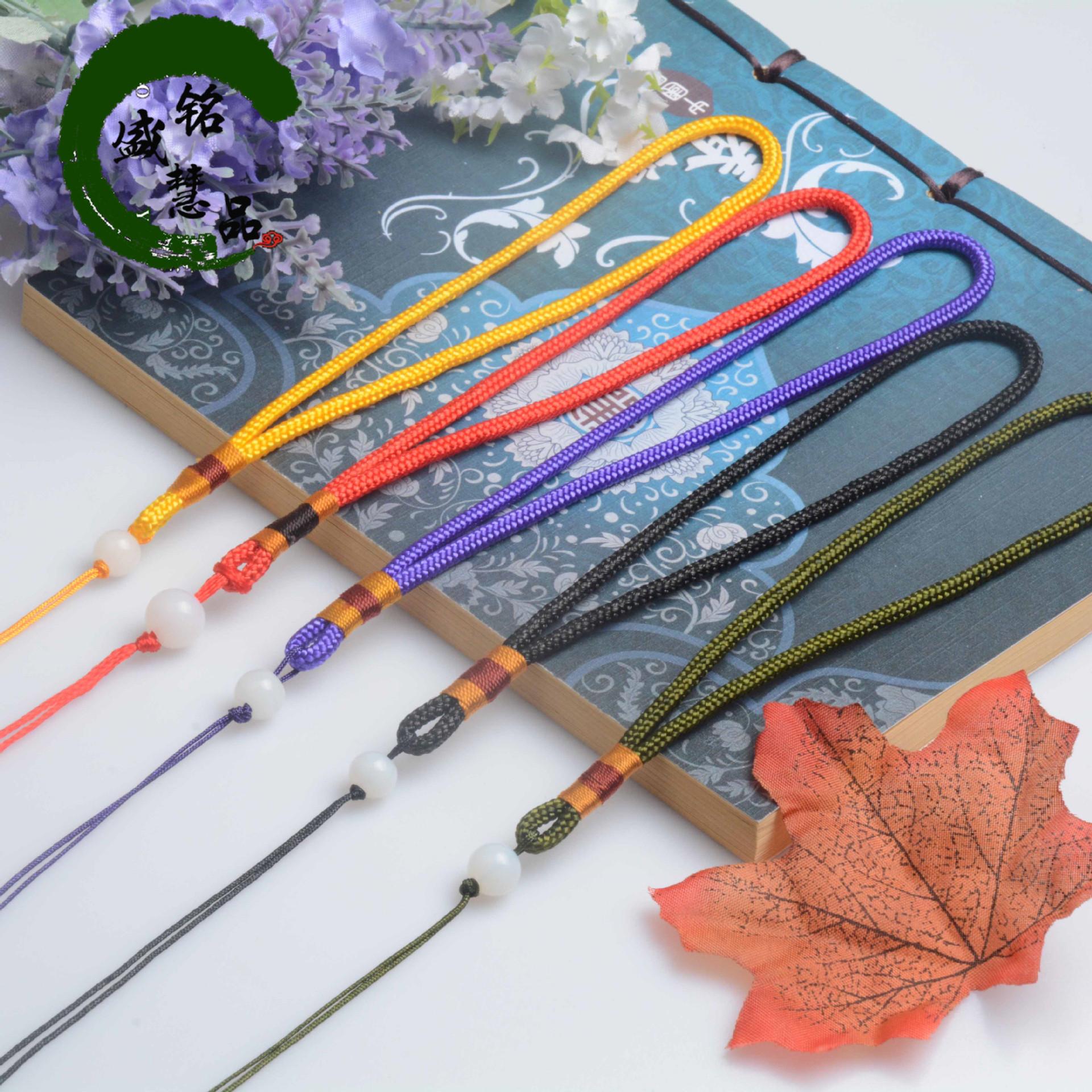 手工编织玻璃珠手把绳 香包流苏饰品挂绳 车挂手把件绳子厂家批发