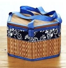 竹编手提篮竹篮子粽子茶?#23545;?#39292;礼盒礼品水果鸡蛋盒特产伴手礼包装
