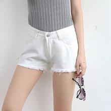2020夏季新款女装白色修身百搭牛仔短裤宽松超显瘦阔腿热裤高腰潮