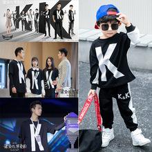 男童套装2019春秋季新款韩版儿童?#35013;?#30340;热爱的同款小童帅气两件套