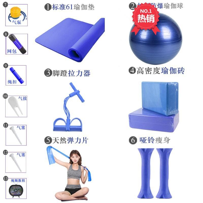 组合瑜伽球瑜伽垫套装女新款健身器材瑜伽初学者瑜伽装备套用品