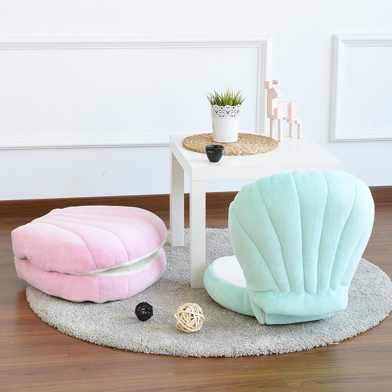 贝壳儿童懒人沙发休闲亲子童趣简易看书小沙发可拆洗单人布艺沙发