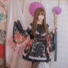女仆cosplay动漫装极乐净土宅舞和风花魁演出服改良和服古装性感