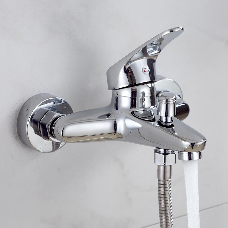 铜淋浴龙头混水阀套装 三联花洒浴缸龙头套装 冷热淋浴器水龙头