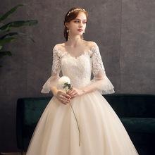 外贸爆款 婚纱礼服2020新款新娘结婚大码 抖音梦幻仙气蓬蓬裙批发
