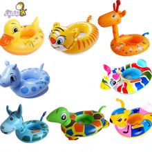 新款儿童游泳圈 水上充气带头座圈座艇 品?#26102;?#35777;婴儿动物坐圈