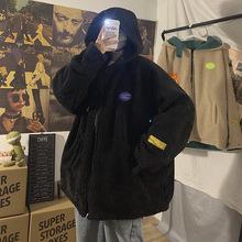 羊羔毛外套秋冬季2019新款韩版潮宽松加厚加绒两面穿外套BW06P140