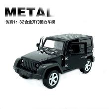 越野吉普Jeep牧马人仿真回力合金汽车模型玩具车烘焙蛋糕装饰摆件