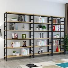 书架货架文件架钢木展示架简易置物架带柜门化妆品架商超展架定做