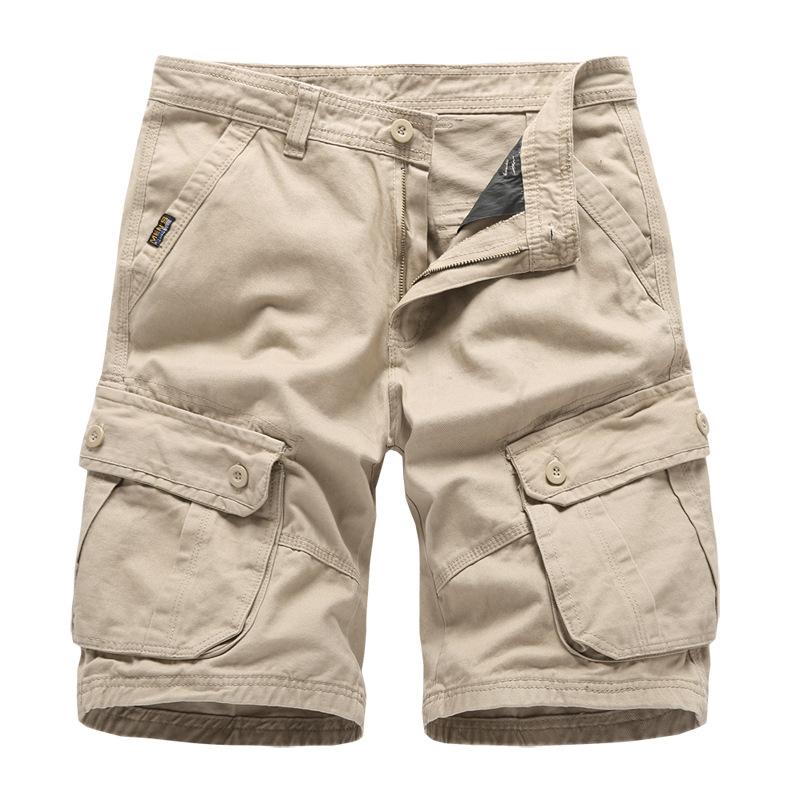 亚马逊2019夏季男装宽松工装裤短裤男大码多口袋五分裤 一件代发