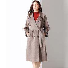 双面呢大衣女2019秋冬新款中长款高端羊毛外套流行加厚大衣女