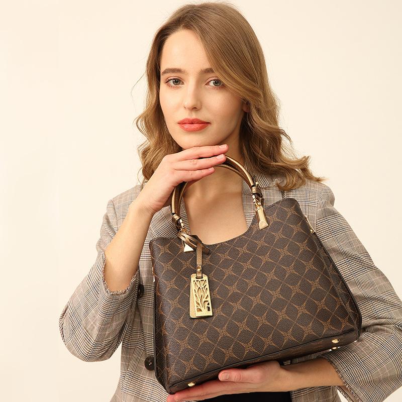 蒂閣瑞包包女2019新款時尚印花女士單肩手提斜跨女包一件代發8610