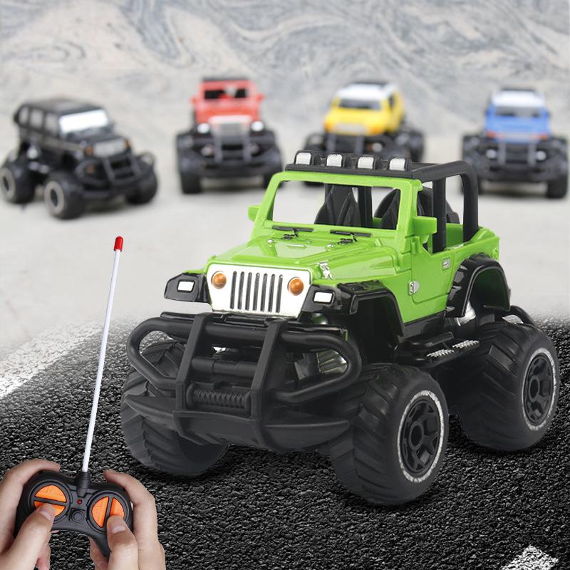 跨境 兒童玩具四通遙控車電動越野車賽車模型無線遙控玩具車 批發