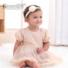 kids dress儿童礼服裙新款童装裙子0-1岁婴儿刺绣蕾丝儿童裙子