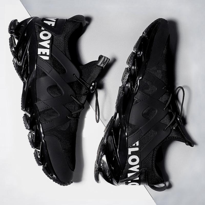 夏季男鞋2019新款韩版气垫潮鞋外贸刀锋运动跑步鞋子男AJ1老爹鞋