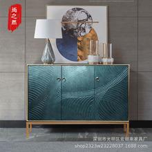 中式进门玄关鞋柜间厅柜餐边装饰柜隔断柜后现代轻奢橱柜一件代发