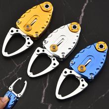 户外用品迷你甲壳虫系列彩色不锈钢控鱼器钓鱼工具夹鱼器控鱼钳