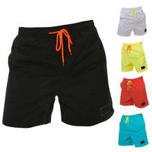 外貿跨境爆款 海邊度假速干沙灘褲男 寬松大碼運動沖浪短褲四分褲