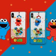 立体芝麻街娃娃机手机壳iPhoneXsmax卡通oppo/vivo华为保护套适用