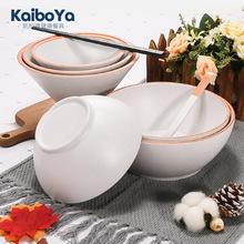 塑料碗米饭碗密胺餐具 创意日韩餐厅汤碗粥碗斗笠拉面碗饭店用品