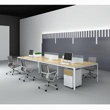簡約時尚職員辦公桌板式屏風八人位組合電腦桌東莞辦公家具可訂制