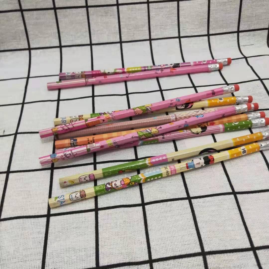批发金凯HB型花杆小皮头小学生写字铅笔赠品铅笔卡通塑套铅笔